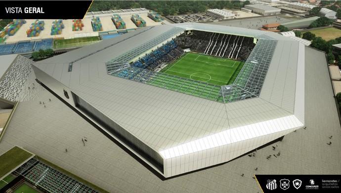 Resultado de imagem para arena do santos projeto
