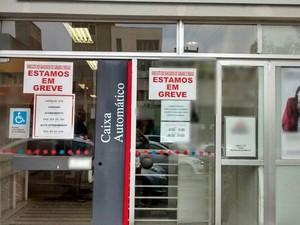 Greve dos bancários teve adesão de 70% das agências em Caruaru (Foto: Divulgação/Sindicato dos Bancários)