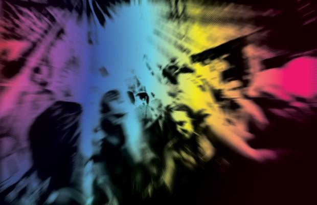 PÚBLICO-ALVO Jovens dançam numa rave movida a drogas. As substâncias ilícitas se multiplicam (Foto: Editoria de Arte ÉPOCA sobre foto de David Ramos/Getty Images)