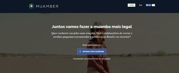Muamber promete conectar quem viaja e quem precisa de produtos (Foto: Reprodução)