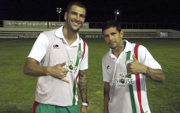 Renan Marques e Rico, atacantes do Alecrim (Foto: Jocaff Souza)