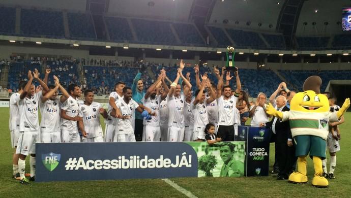 ABC - campeão do segundo turno do Campeonato Potiguar 2017 (Foto: Augusto Gomes/GloboEsporte.com)