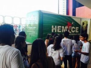 Unidade móvel do Hemoce no Academia Enem (Foto: Liana Sampaio/Prefeitura de Fortaleza)