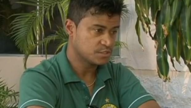 Adriano Gabiru no Esporte Clube Esperança (Foto: Reprodução/RPC TV)