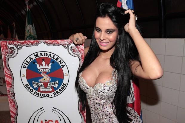 Lorena Bueri, ex-Gata do Paulistão, em evento em São Paulo (Foto: Leo Franco/ Ag. News)