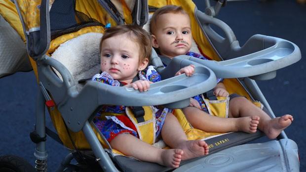 Olha só, que fofuras esses gêmeos (Foto: Rubem Vital/ RPC)