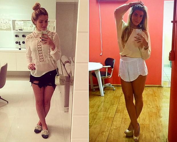 Shorts também estão entre os looks que Aline adora! (Foto: Arquivo Pessoal)