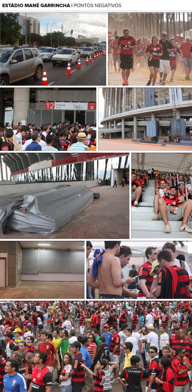 MOSAICO - Estádio mané garrincha Pontos negativos (Foto: Fabrício Marques)