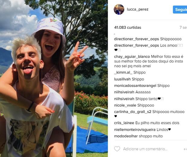 Fãs shippam Maísa Silva e Lucca Perez (Foto: Reprodução/Instagram)