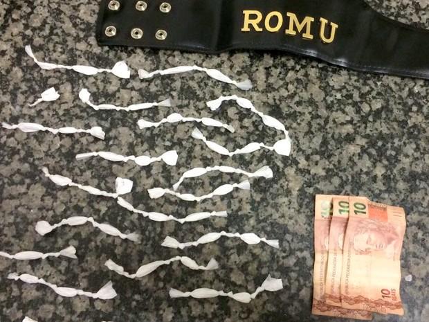 Adolescente é apreendido com 61 porções de cocaína em Piracicaba (Foto: Guarda Municipal de Piracicaba)