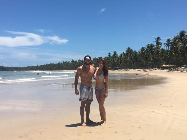 O casal Pedro Magalhães e Amanda Gontijo (Foto: Arquivo pessoal/Reprodução)