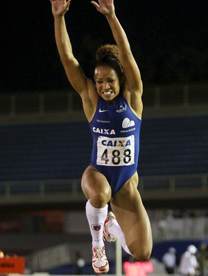 Keila Costa vence com recorde Troféu Brasil atletismo (Foto: Wagner Carmo/CBAt)