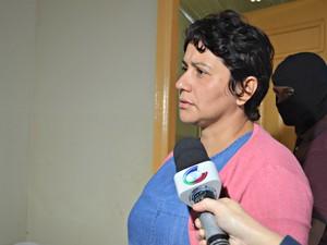 Marleidy Dourado foi condenada a 16 anos de prisão por forjado acidente que vitimou o marido  (Foto: Quésia Melo/G1)
