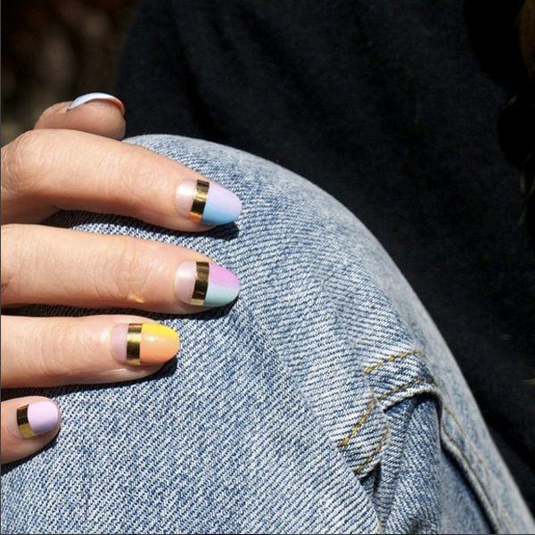 Nail art com vazados é nova febre entre fashionistas (Foto: Instagram/Reprodução)