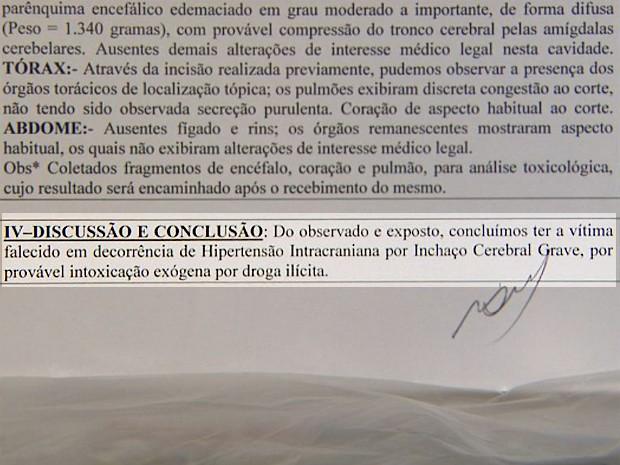 Laudo do IML aponta morte de adolescente por overdose (Foto: Reprodução/EPTV)