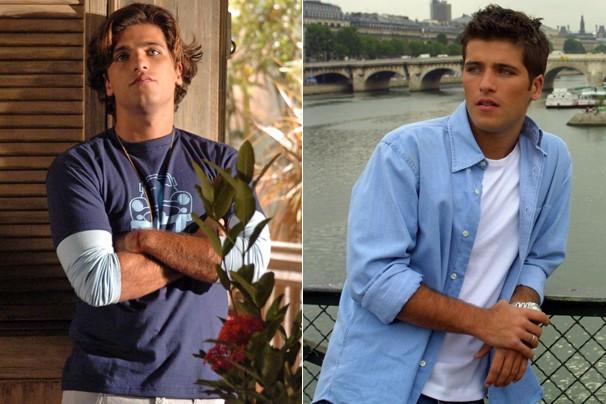 Na novela América, no polêmico papel de Roberto, e em Celebridade, como Inácio, gravando em Paris (Foto: CEDOC Globo)