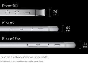 2c29e7df629 Apple comparou tamanhos dos aparelhos em evento de lançamento dos iPhone 6  e iPhone 6 Plus