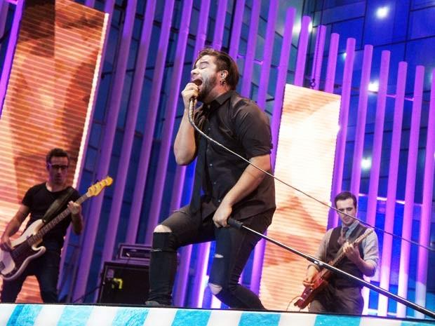 Banda Oficina G3 levou o rock para o Festival Promessas (Foto: Ricardo Moreira / G1)