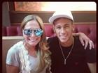 Susana Vieira tieta Neymar em almoço