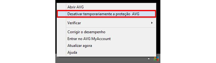 Procedimento pode ser feito através da barra de tarefas (Foto: Reprodução/AVG)