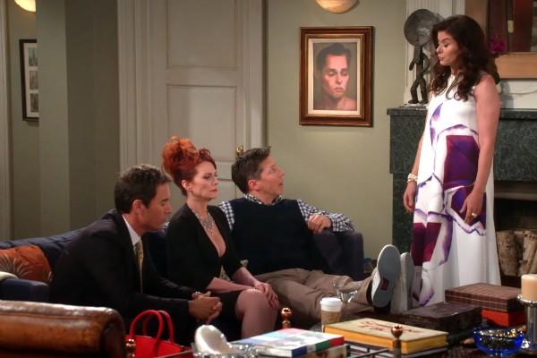 O elenco de Will & Grace: Debra Messing, Megan Mullally, Eric McCormack e San Heayes (Foto: Reprodução)