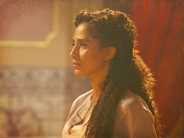 Isabel não esperava essa atitude de Zé Maria (Foto: Lado a Lado / TV Globo)