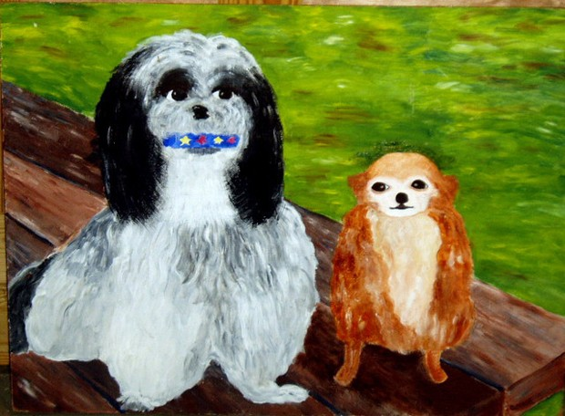 'Charlie and Sheba', uma das obras do Museu da Arte Ruim (Foto: Divulgação)