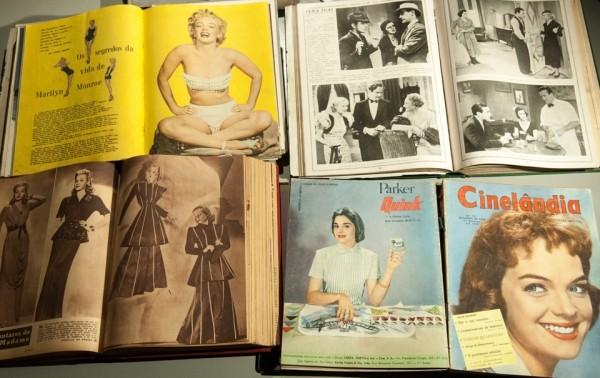 Exposição conta a história do cinema através de revistas brasileiras dedicadas ao tema (Foto: Reprodução)