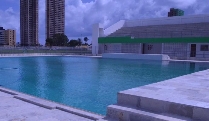 Piscina de Nado Sincronizado da Vila Olímpica Ronaldo Marinho (Foto: Larissa Keren / GloboEsporte.com/pb)