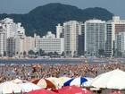 Turista morre afogado na praia da Enseada, em Guarujá, SP