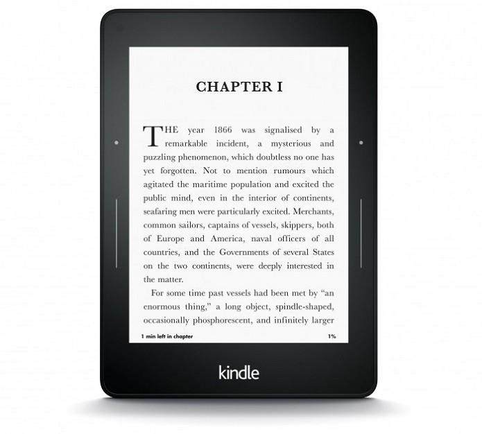 Kindle Voyage traz iluminação que se ajusta automaticamente conforme ambiente (Foto: Divulgação/Amazon)
