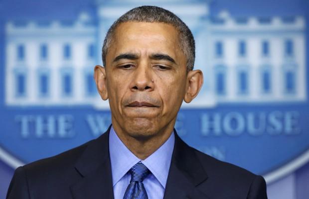 Barack Obama, durante o pronunciamento em rede nacional nesta quinta (18) (Foto: Jonathan Ernst/Reuters)