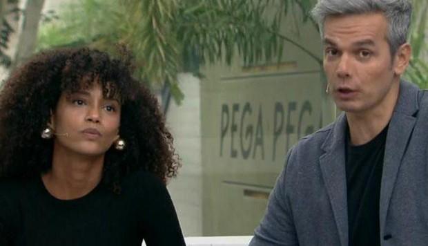 Tais Araújo e Otaviano Costa (Foto: TV Globo)