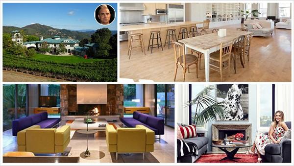 Casas de Robbie Willians, Kate Winslet, Leonardo DiCaprio, Jessica Alba (Foto: Divulgação)