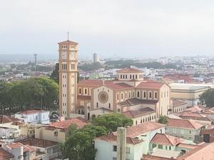 Igreja Matriz, no Centro, é um dos símbolos do município (Foto: Reprodução/ TV TEM)