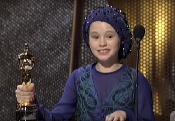 Anna Paquin na cerimônia do Oscar em 1994 (Foto: Reprodução / YouTube)