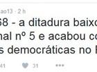 Rui Falcão destaca que atos contra Dilma ocorrem no aniversário do AI-5