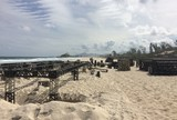 Mundial de Surfe: estrutura do Rio Pro começa a ser montada em Saquarema