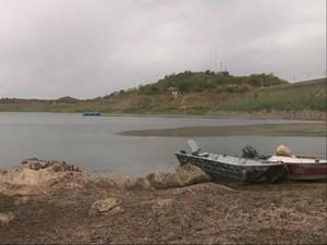 Açude de Boqueirão, em Campina Grande, atinge pior nível da história (Foto: Reprodução/ TV Paraíba)