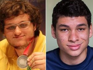 Mateus Bezrutchka e Gustavo Torres Silva também foram aceitos em Harvard (Foto: Arquivo pessoal/IOI2014/Victor Moriyama/G1)