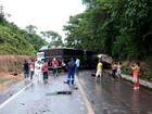 Colisão entre três caminhões na BR 174 deixa um ferido no Amazonas