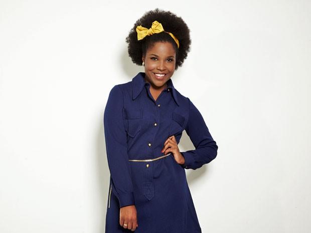 A cantora britânica interpreta tema de Théo e Morena (Foto: Salve Jorge/TV Globo)