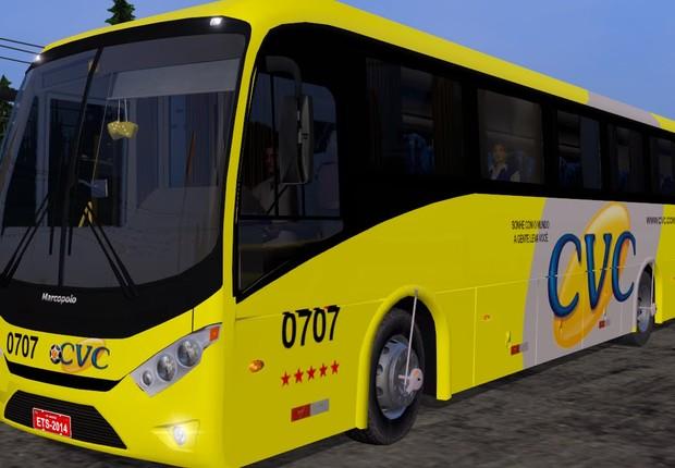 Ônibus da empresa de turismo CVC (Foto: Reprodução/YouTube)