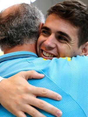Oscar na Granja chegada da seleção (Foto: Rafael Ribeiro / CBF)