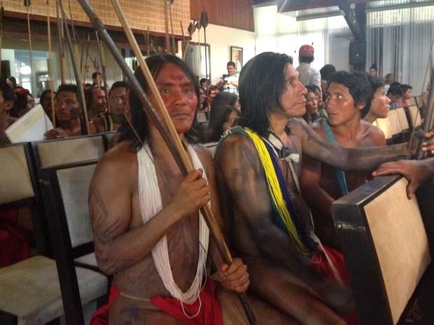 Cerca de 70 indígenas participaram do Fórum Indígena do Amapá (Foto: Fabiana Figueiredo/G1)
