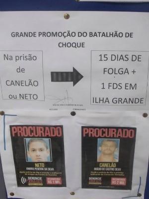 Promoção foi colocada no mural do batalhão (Foto: Divulgação/Polícia Militar)