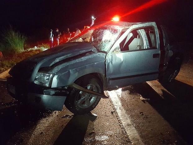 acidente em Monte Alegre de Minas (Foto: PRF/Divulgação)