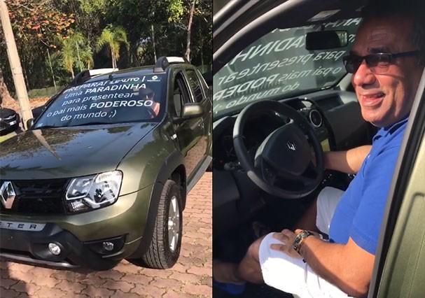 Anitta presenteia o pai, Mauro Machado, com picape de 70 mil reais (Foto: Reprodução/Instagram)