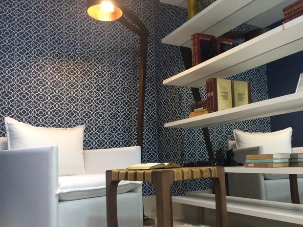 Apartamento decorado também pode contar com cores, em Goiânia, Goiás (Foto: Paula Resende/ G1)