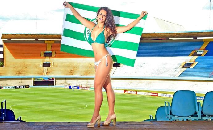 Maysa Moreno é a musa do Goiás no Goianão 2015 (Foto: Divulgação / Camila Fontanive)